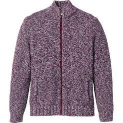 Sweter rozpinany Regular Fit bonprix czerwony klonowy melanż. Czerwone kardigany męskie marki bonprix, m, melanż. Za 89,99 zł.
