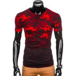 T-shirty męskie: T-SHIRT MĘSKI Z NADRUKIEM MORO S869 – CZERWONY