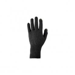 Rękawiczki trekkingowe wewnętrzne Trek 500. Czarne rękawiczki damskie marki FORCLAZ, z elastanu. Za 19,99 zł.