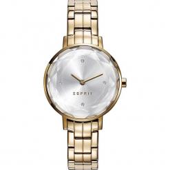 Zegarek kwarcowy w kolorze srebrno-złotym. Żółte, analogowe zegarki damskie Esprit Watches, ze stali. W wyprzedaży za 250,95 zł.