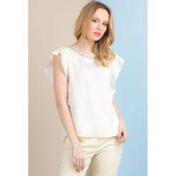 Bluzki asymetryczne: Bluzka z biżuteryjną lamówką