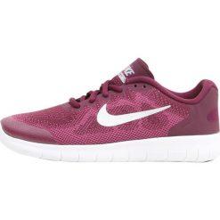 Nike Performance FREE RUN 2  Obuwie do biegania neutralne bordeaux/metallic silver/tea berry/bold berry. Czerwone buty sportowe chłopięce Nike Performance, z materiału. W wyprzedaży za 237,30 zł.