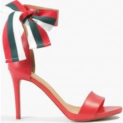 Sandały czerwone Klara. Fioletowe sandały damskie marki Badura. Za 170,99 zł.