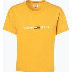 Tommy Jeans - T-shirt damski, żółty. Żółte t-shirty damskie marki Tommy Jeans, l, z haftami, z jeansu. Za 179,95 zł.