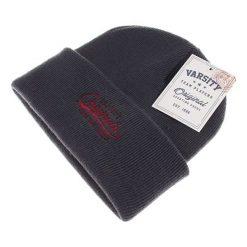 Czapka w kolorze szarym. Szare czapki zimowe męskie Camel Active, Varsity, z materiału. W wyprzedaży za 44,95 zł.
