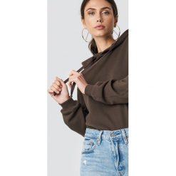 NA-KD Basic Bluza z kapturem basic - Brown. Brązowe bluzy rozpinane damskie NA-KD Basic, z długim rękawem, długie, z kapturem. Za 100,95 zł.