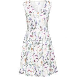 Sukienki hiszpanki: Sukienka z dżerseju bonprix biel wełny w kwiaty