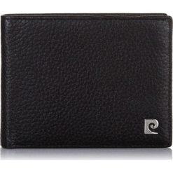 PORTFEL MĘSKI SKÓRZANY PIERRE CARDIN. Czarne portfele męskie Pierre Cardin, z materiału. Za 129,90 zł.