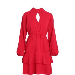 Czerwona Sukienka Failure. Czerwone sukienki marki Born2be, l, z koszulowym kołnierzykiem, koszulowe. Za 89,99 zł.