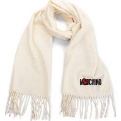 Szal MOSCHINO - 30578 M1877 002. Brązowe szaliki damskie MOSCHINO, z materiału. Za 409,00 zł.