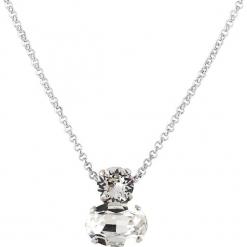 Naszyjnik z kryształkami Swarovski - dł. 45 cm. Szare naszyjniki damskie Destellos, metalowe. W wyprzedaży za 77,95 zł.