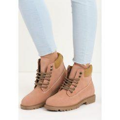 Buty zimowe damskie: Różowe Traperki Snowed In
