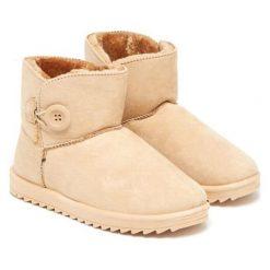 Botki w kolorze beżowym. Brązowe buty zimowe damskie Carla Samuel, na zimę. W wyprzedaży za 149,95 zł.