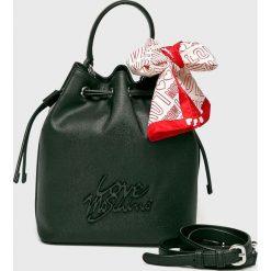 Love Moschino - Torebka. Szare torebki klasyczne damskie marki Love Moschino, w paski, z materiału, średnie. Za 849,90 zł.
