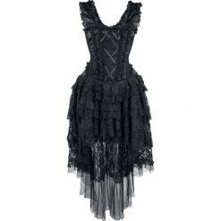 Burleska Ophelie Dress Sukienka czarny. Czarne długie sukienki Burleska, xl, w koronkowe wzory, z koronki, z gorsetem, z krótkim rękawem, gorsetowe. Za 569,90 zł.