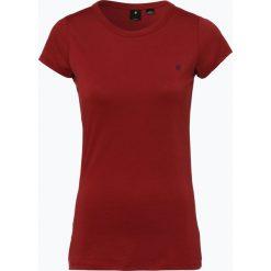 G-Star - T-shirt damski – Eyben, czerwony. Czerwone t-shirty damskie G-Star, l, z dżerseju, z klasycznym kołnierzykiem. Za 89,95 zł.