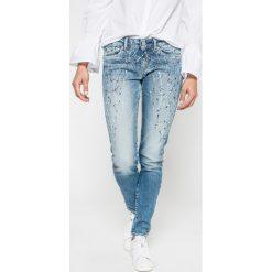 Pepe Jeans - Jeansy Pixie. Niebieskie jeansy damskie marki Pepe Jeans. W wyprzedaży za 329,90 zł.