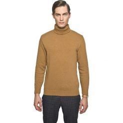 Sweter gilder golf kamel. Szare golfy męskie marki Recman, m, z długim rękawem. Za 239,00 zł.