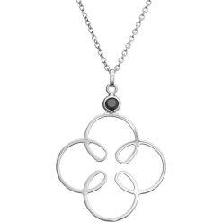 Naszyjniki damskie: Srebrny naszyjnik z cyrkonią – (D)43,5 cm