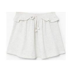 Mango Kids - Spódnica dziecięca Skaty 104-164 cm. Szare minispódniczki marki Mango Kids, l, z bawełny, rozkloszowane. W wyprzedaży za 19,90 zł.