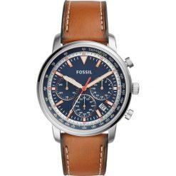 Zegarek FOSSIL - Goodwin Chrono FS5414 Brown/Silver. Różowe zegarki męskie marki Fossil, szklane. W wyprzedaży za 449,00 zł.