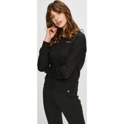 New Balance - Bluza. Czarne bluzy rozpinane damskie New Balance, l, z bawełny, bez kaptura. W wyprzedaży za 179,90 zł.