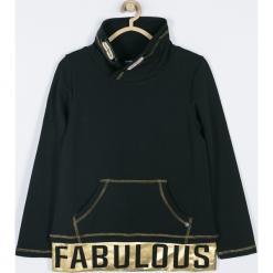 Bluza. Czarne bluzy dziewczęce rozpinane MAKE THE RULES, z aplikacjami, z bawełny, z długim rękawem, długie. Za 89,90 zł.