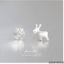 Snieżynki kolczyki srebro 925 - prezent + box. Szare kolczyki damskie Pakamera, srebrne. Za 66,00 zł.