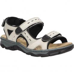Sandały Rieker 68872-60. Czarne sandały damskie marki Rieker, z materiału. Za 238,99 zł.