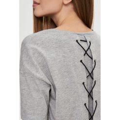 T-shirty damskie: T-shirt oversize – Jasny szar