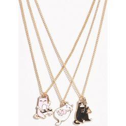 Naszyjniki z kotami - Beżowy. Brązowe naszyjniki damskie marki Sinsay. Za 19,99 zł.