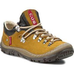 Buty zimowe damskie: Trekkingi NAGABA – 054 Żółte P