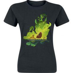 The Lion King Green Jungle - Simba, Timon & Pumba Koszulka damska czarny. Czarne bluzki damskie The Lion King, l, z nadrukiem, z okrągłym kołnierzem. Za 74,90 zł.