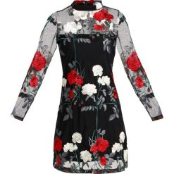 Sukienki hiszpanki: New Look PREMIUM HIGHNECK EMBROIDED Sukienka koktajlowa black