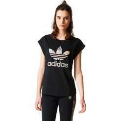 Adidas Koszulka damska  JARDIM AGHARTA BF ROLL UP TEE czarna r. 38 (BR5169). Czarne topy sportowe damskie Adidas. Za 139,95 zł.