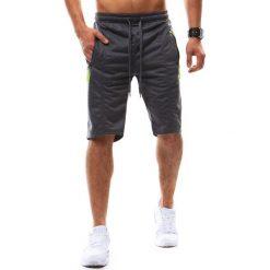 Bermudy męskie: Krótkie spodenki dresowe męskie antracytowe (sx0433)