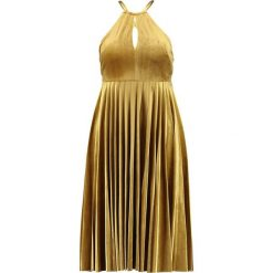 Sukienki hiszpanki: Endless Rose STRAPPY PLEATED DRESS Sukienka koktajlowa golden yellow
