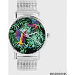 Zegarki damskie: Zegarek - Papugi, tropikalny - metalowy