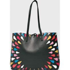 Desigual - Torebka dwustronna. Szare shopper bag damskie Desigual, z materiału, do ręki, duże. W wyprzedaży za 249,90 zł.