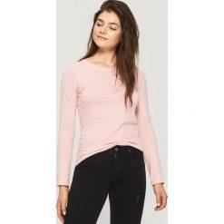 Bluzki damskie: Gładka bluzka - Różowy