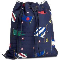 Plecaki damskie: Plecak TOMMY HILFIGER - Item Drawstring Backpack Flag AW0AW05093  901