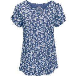 T-shirt z nadrukiem, krótki rękaw bonprix indygo. Niebieskie t-shirty damskie bonprix, z nadrukiem. Za 34,99 zł.