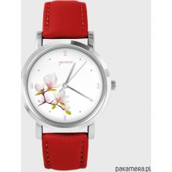 Zegarek - Magnolia - skóra, czerwony. Czerwone zegarki damskie Pakamera. Za 139,00 zł.