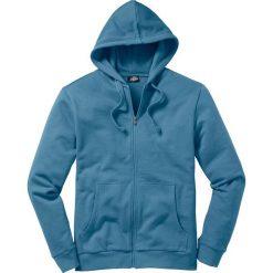 Bluza rozpinana z kapturem Regular Fit bonprix niebieski dżins. Niebieskie bejsbolówki męskie bonprix, l, z dresówki, z kapturem. Za 79,99 zł.