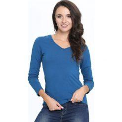 Niebieska Bluzka Convenience. Niebieskie bluzki asymetryczne Born2be, l, z długim rękawem. Za 24,99 zł.