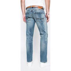 S. Oliver - Jeansy HOSE. Niebieskie jeansy męskie relaxed fit S.Oliver, w paski, z bawełny. W wyprzedaży za 179,90 zł.
