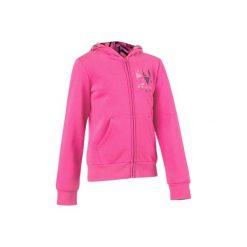 Bluza 500 Gym. Szare bluzy dziewczęce rozpinane marki DOMYOS, z elastanu, z kapturem. W wyprzedaży za 34,99 zł.