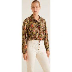 Mango - Koszula Ptsecond. Szare koszule damskie Mango, l, z materiału, klasyczne, z klasycznym kołnierzykiem, z długim rękawem. Za 199,90 zł.