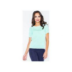 Bluzka M182 Mięta. Zielone bluzki damskie FIGL, m, ze skóry, z krótkim rękawem. Za 79,00 zł.