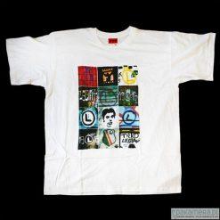 Koszulka T-LEGIA. Czarne bluzki asymetryczne Pakamera, z nadrukiem, z bawełny. Za 77,00 zł.